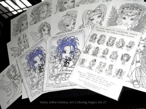 Conjunto 7 imprimir páginas para colorear gratis envío | Etsy