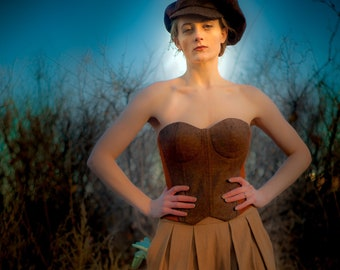 Incredible Tweed Corsets----Completely Custom Made