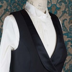 RESERVED ----- Custom Vest, Bustle Skirt, Blouse & Cravat