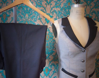 The Perfect Vest and Pant Suit----In Pinstripes