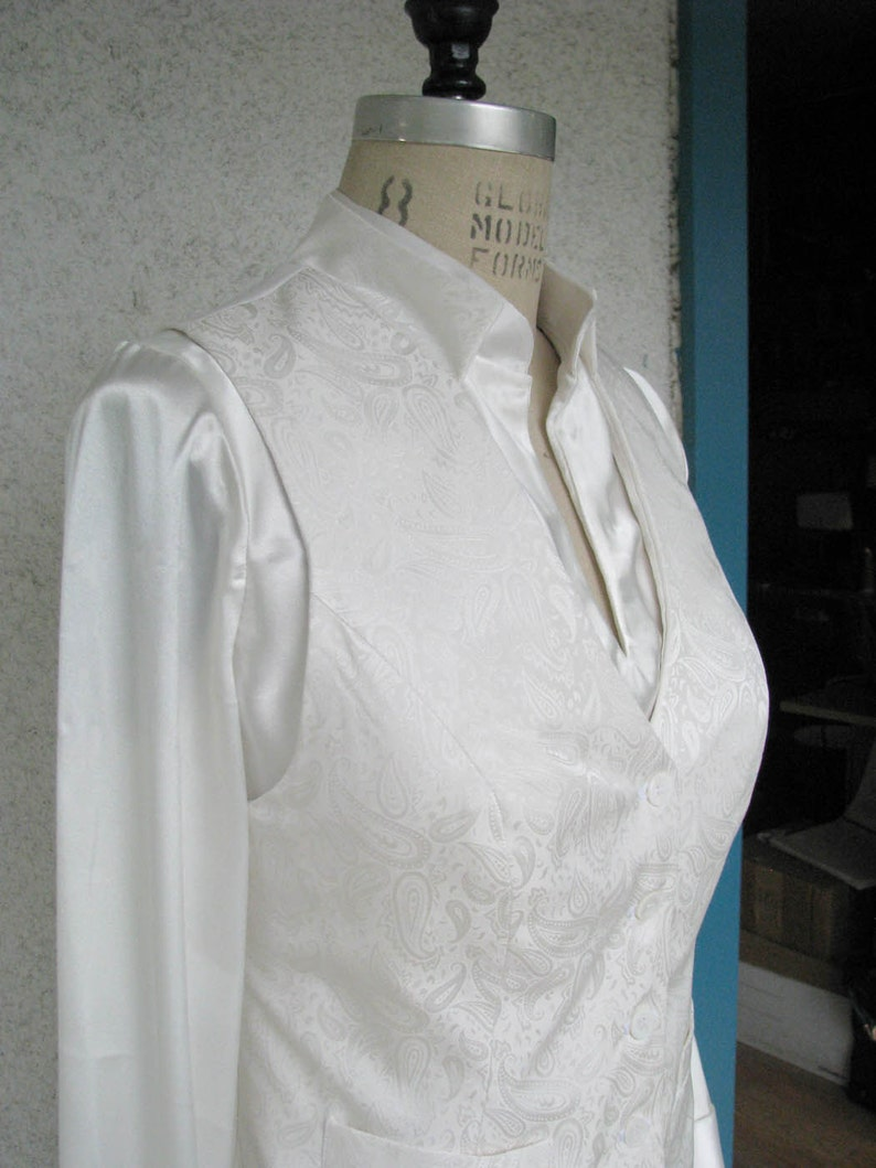 Corset Back Wedding Suit----For Formalwear and Lesbian Weddings