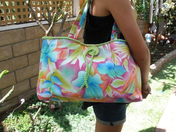 Handbag with Spring Flowers and Purse organizer