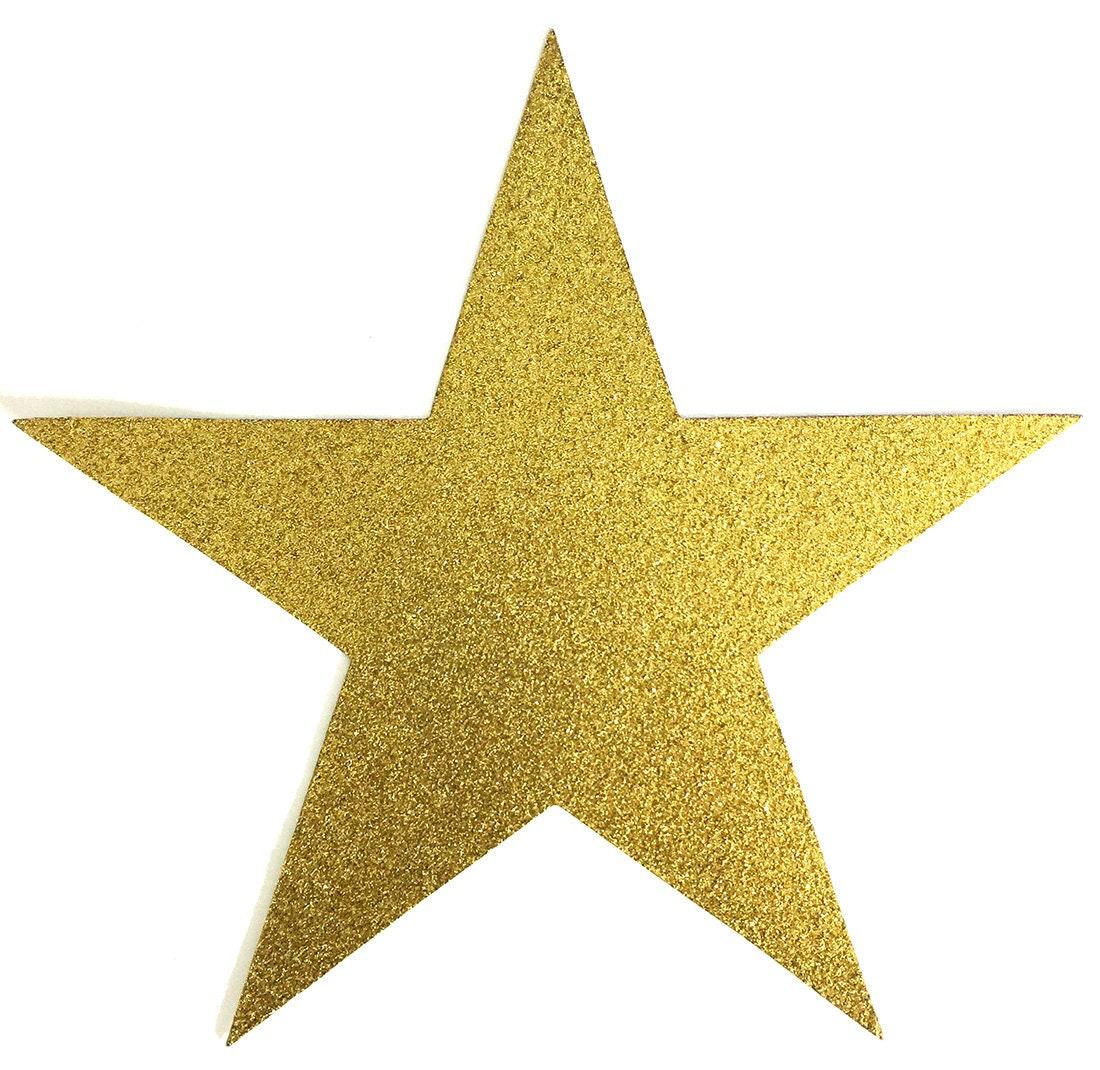 Paillettes d'or 7,75 Big Star de Scrap - 7,75 d'or pouces taille de papier de scrapbooking - 10 étoiles - artisanat décoration de partie embellissement a54b16