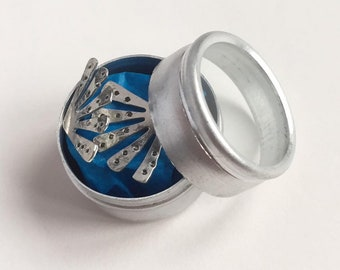 Sterling Silver Sunburst Studs in Gift Tin