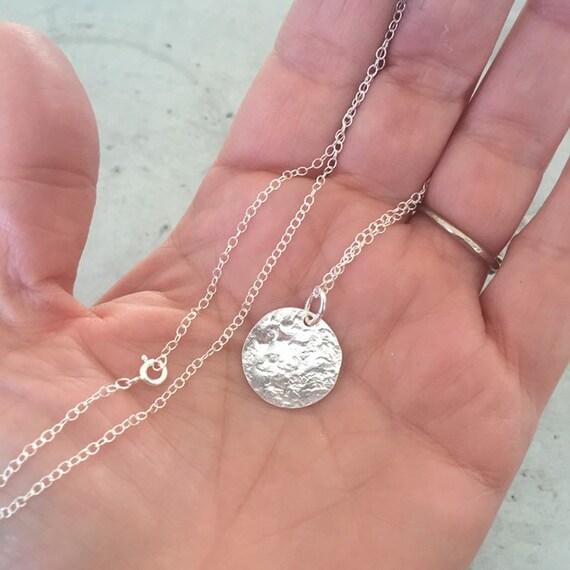 Full Moon Sterling Silver Necklace - Celestial - Luna - Wicca - Magic