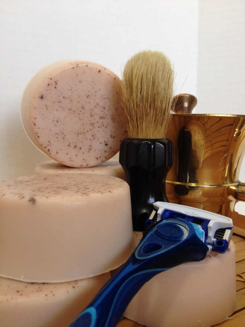 Rustic Sedona Natural Clay Shaving Soap  Alluring Musky image 0