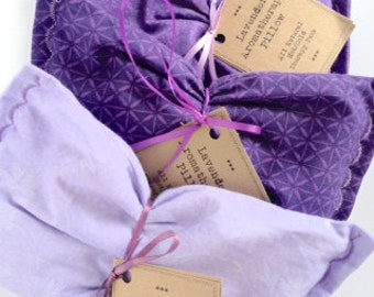 Lavender Essential Oil Aromatherapy Pillow - Hot Cold Therapy for Aches, Pains & Sore Muscles