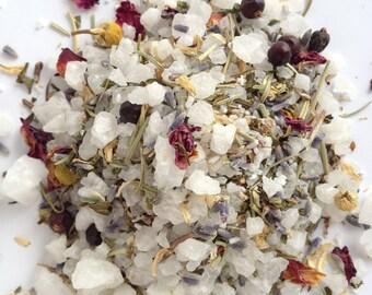Botanical Bath Soak Multi Pack - bath tea. bath salts. botanical bath tea. bath soak. relaxing bath. easy clean up. no mess bath tea