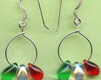 Christmas Drops Sterling Silver Earrings