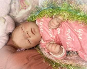 Reborn Baby Girl Art Doll Painted Hair newborn Lifelike