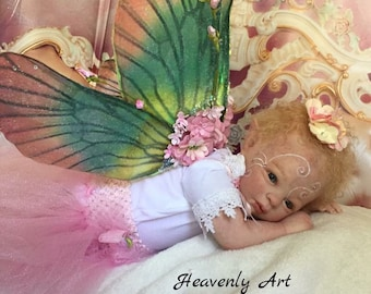Custom Wings for  Reborn Baby Boy or Girl Art Doll Fairy, Elf  Newborn Made to order for wings for dolls 8-11 inches