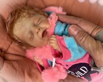 Reborn Baby Girl Art Doll Micropreemie newborn Lifelike Salia by Olga Auer
