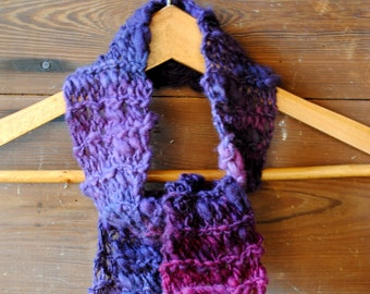 Handknit Scarf - Hand dyed and handspun