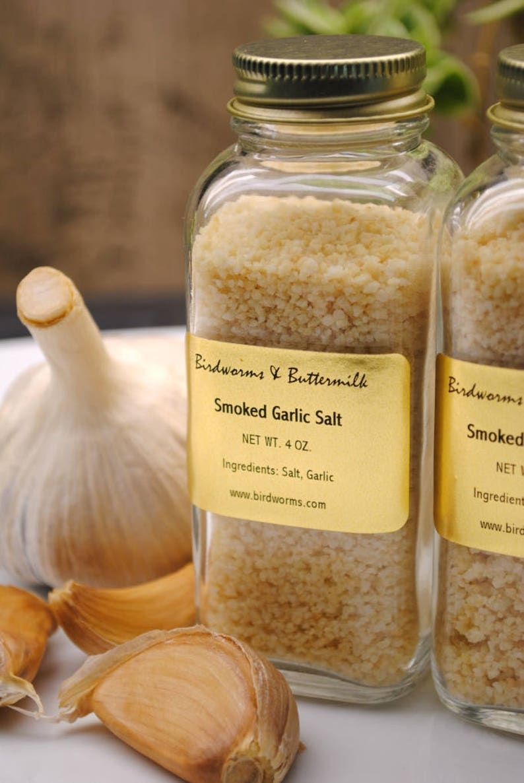 Smoked Garlic Salt  Homegrown Handcrafted Hand Smoked image 0