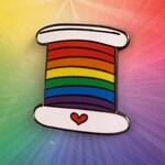 Pride Rainbow Thread Enamel Pin - Benefitting the Trevor Project