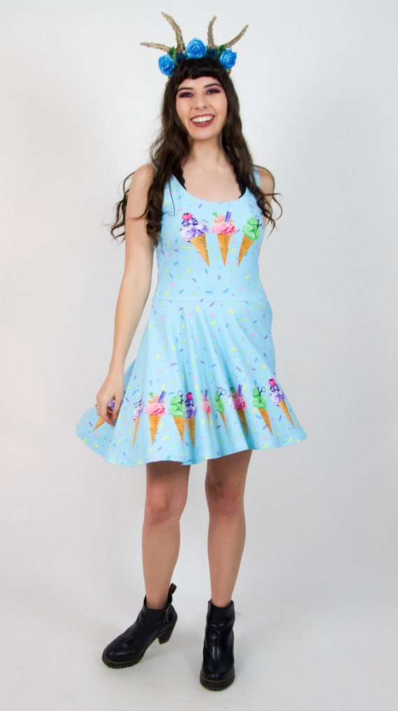 7d528261b2 Sew Sweet Ice Cream Skater Dress by Glimmerwood