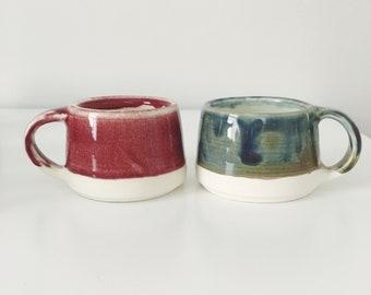 Adorables Tasses Espresso En Soucoupes Céramique DeEtsy Ensemble 2DHI9E