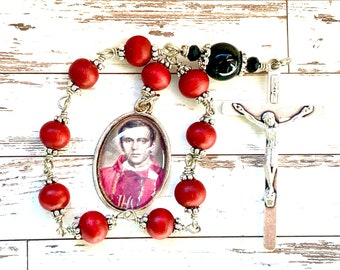 Single decade rosary, Blessed Jerzy Popieluszko, Pocket rosary, catholic gift, Patron Saint, Catholic martyr, Rosenkranz-Atelier