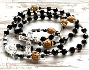 Catholic rosary sterling silver, silver rosary, first communion gift, eucharistic, catholic gift, catholic rosary beads, Rosenkranz-Atelier