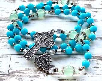 Sterling silver rosary beads silver catholic rosary, I am the Resurrection and the Life, catholic gift, confirmation, Rosenkranz-Atelier