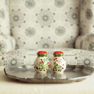 1950s Pear Ceramic Salt Pepper Shakers Yellow Fruit Novelty Shakers Vintage Tableware Table Decor