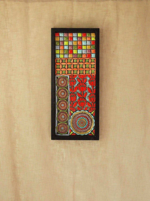 Mosaic Wall Art Moroccan Patchwork No.2 Mosaic Art Raku Clay | Etsy