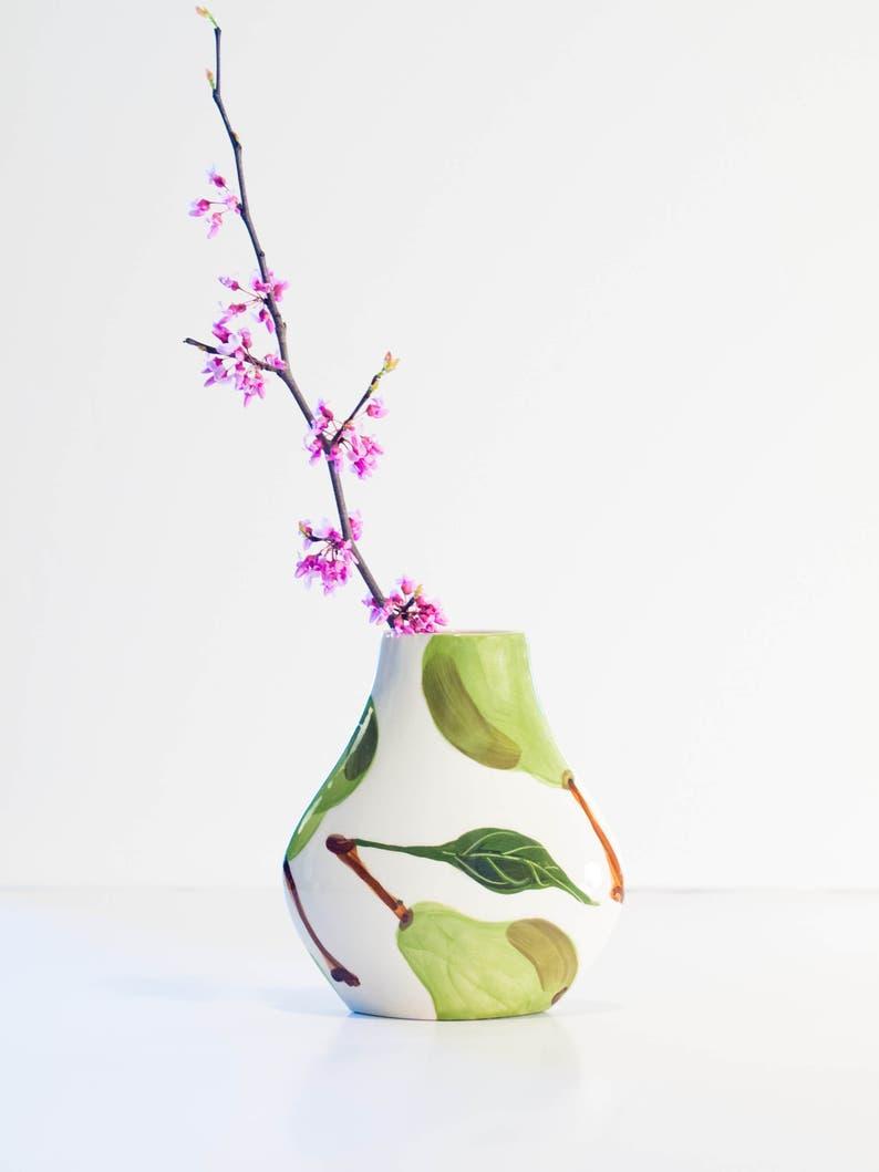 Vase Kleine Vase Keramik Vase Blume Vase Birne Tear Drop Vase Etsy