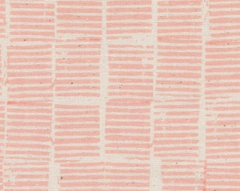 Cotton + Steel Hearth Peach, Sienna, Pink and White Stripe Fabric