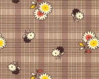 Floral Plaid Bark, Winter Walk, Denyse Schmidt Fabric
