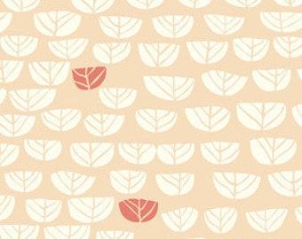Birch Hidden Garden Sproutlet Shell Organic Cotton Fabric