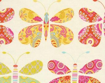 Sacha Pink, Dena Designs, Kumari Garden, Butterfly Fabric