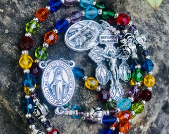 The Sycamore Tree Stained Glass Chapel Rosary - 6mm