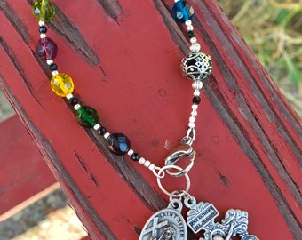 The Sycamore Tree Stained Glass Purse Rosary