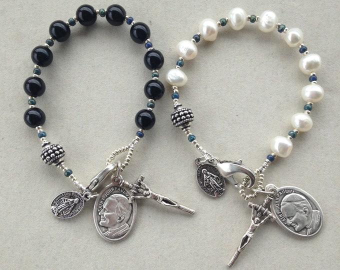 His and Hers Single Decade Rosaries Commemorating Saint John Paul II