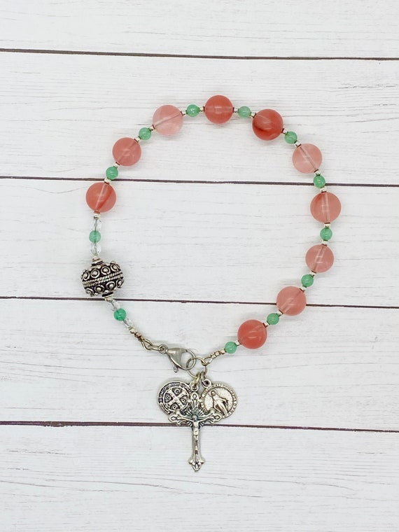 Thoughts of Spring Purse Rosary