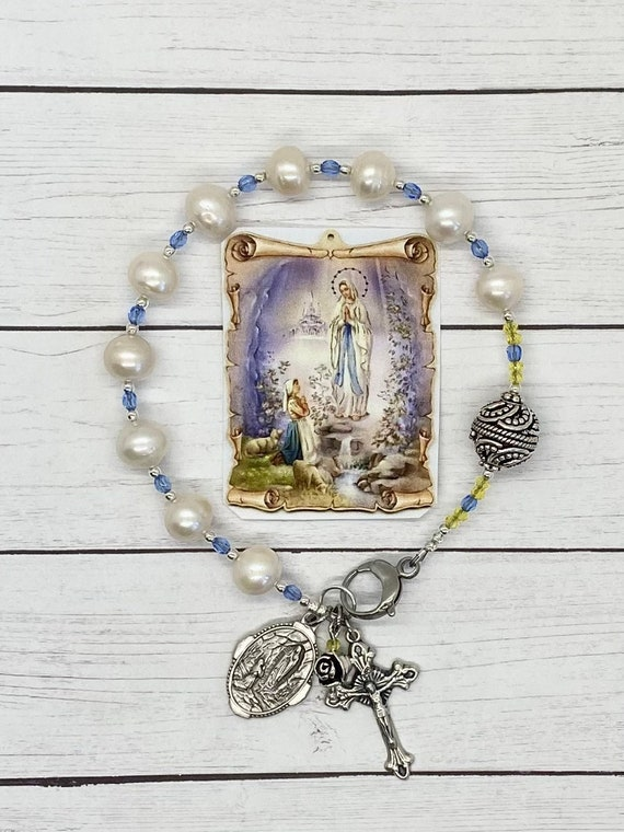 Our Lady of Lourdes Purse Rosary