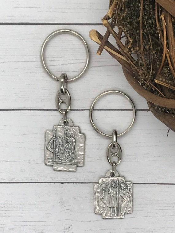 St. Christopher/Holy Family Keychain