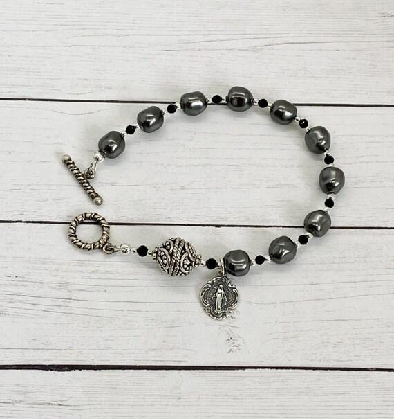 Swarovski Baroque Crystal Pearl Rosary Bracelet