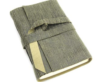 Small Leather Sketchbook Pocket Journal Handmade Leather Book Pocket Sized Leather ournal Olive Green Leather