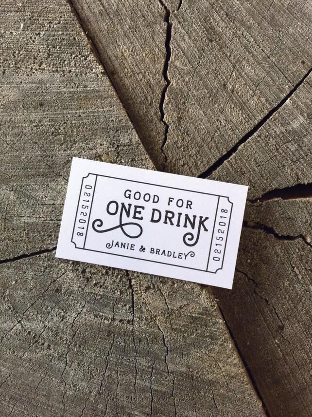 Hochzeit Getränk Tickets einlösen für einen Drink Gutschein | Etsy