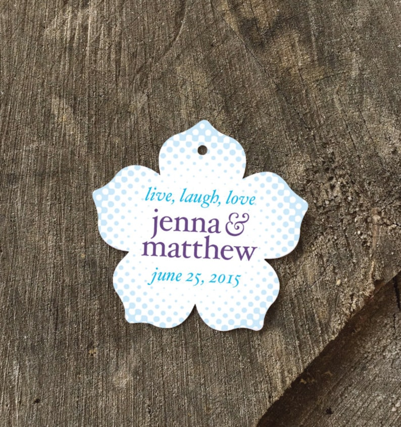 Gardenia Tags Hibiscus Floral Hang Tags Flower Wedding Favor Tags Petunia Shaped Shower Tags