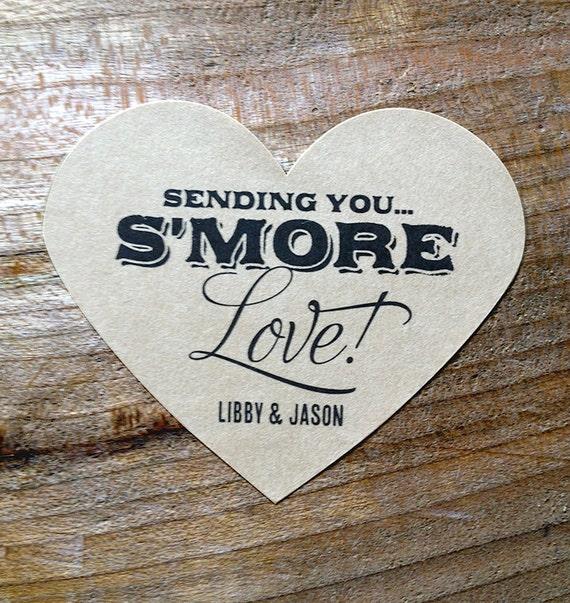 Smore Love Kraft Brown Wedding Stickers #008-KR Labels