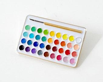 Watercolor Palette Enamel Pin