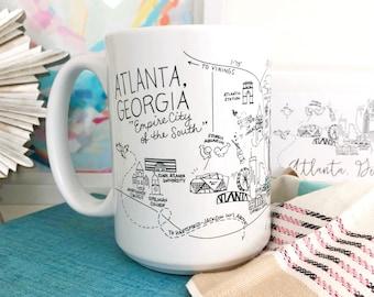 Atlanta, Georgia Map Mug
