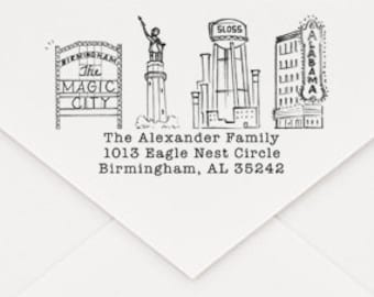 Birmingham, AL Custom Return Address Stamp