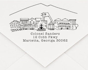 Marietta, Georgia Custom Return Address Stamp