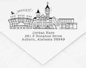 Auburn, Alabama Custom Return Address Stamp