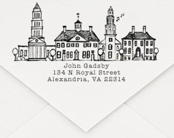 Alexandria, Virginia Custom Return Address Stamp