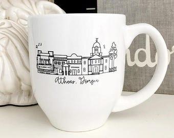 Athens, Georgia Classic City Skyline Mug