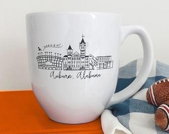 Auburn, Alabama Skyline Mug